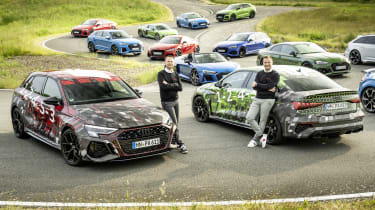 2021 Audi RS3 saloon and hatchback