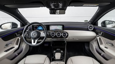 The A-Class' sophisticated interior is better than those of its rivals and even some cars from the class above