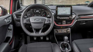 The latest dashboard has a clearer layout than that of the previous Fiesta