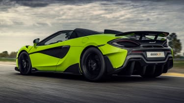 McLaren 600LT Spider convertible side track