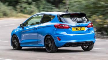 Ford Fiesta ST hatchback rear 3/4 tracking