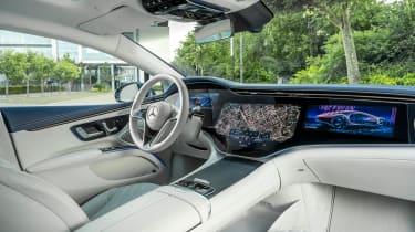 Mercedes EQS hatchback Hyperscreen