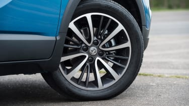 The car you see here sits on 17-inch alloy wheels, though lower-spec cars come with 16-inch alloys