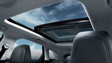 A large panoramic sunroof is a feature of high spec GT models, and optional on others