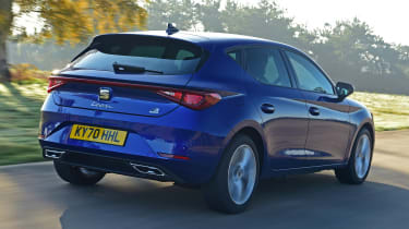 SEAT Leon e-Hybrid hatchback rear 3/4 tracking