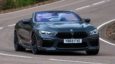 BMW M8 Convertible front 3/4 cornering