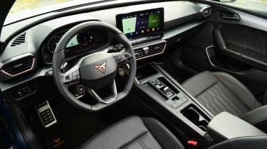 Cupra Leon hatchback steering wheel