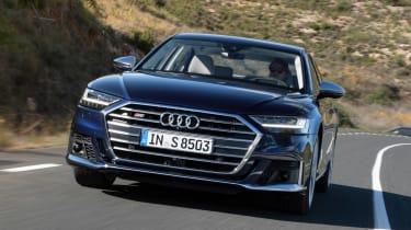 Audi S8 saloon front action
