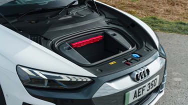 Audi e-tron GT saloon front storage compartment