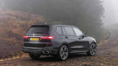 BMW X7 SUV rear 3/4 off-road
