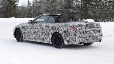 BMW 4 Series Convertible testing in the Arctic Circle