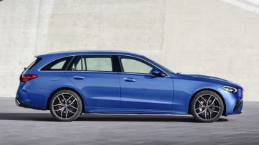 2021 Mercedes C-Class estate - side view