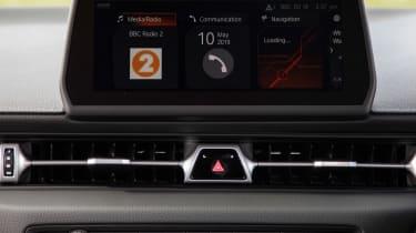 Toyota Supra coupe infotainment display