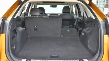 The rear seats split and fold 60:40