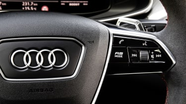 Audi RS7 steering wheel controls