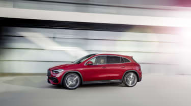 Mercedes-AMG GLA 35 driving - side view