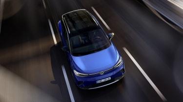 2021 Volkswagen ID.4 driving - top view