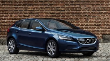 The V40 competes with the Ford Focus and Vauxhall Astra, but also compact executive cars like the Mercedes A-Class