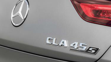 2019 Mercedes-AMG CLA 45 S Shooting Brake - close up rear badge view