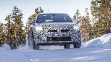 2019 Vauxhall Corsa Prototype winter testing front