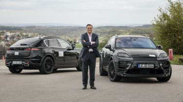 Electric Porsche Macan - prototypes front and rear