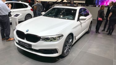 BMW 530e front static at the 2019 Geneva Motor Show