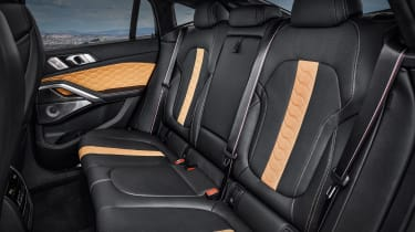 BMW X6 M Competition rear seats