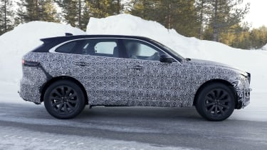 Jaguar F-Pace facelift spotted testing - side view