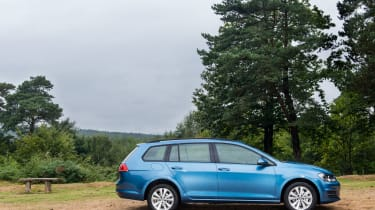 Other trims include entry-level S and sport GT, while VW also offers a rugged Golf Alltrack Estate