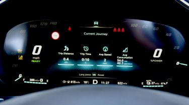 2020 MG HS plug-in hybrid digital dials