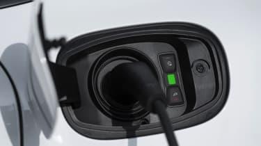 Porsche Cayenne Turbo S E-Hybrid - charging port close-up