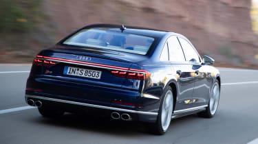 Audi S8 saloon rear tracking