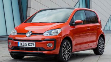Orange Volkswagen up!