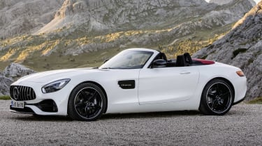 The Mercedes-AMG GT Roadster is set to be hugely desirable, with the same 4.0-litre V8 as the coupe but a folding fabric roof