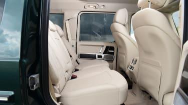 Mercedes G-Class SUV rear seats
