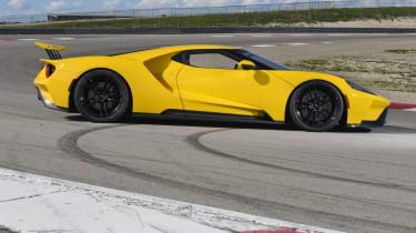The unique shape of the Ford GT is defined by function