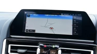 BMW 8 Series Gran Coupe saloon infotainment display