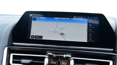 BMW 8 Series Gran Coupe saloon infotainment display