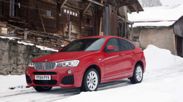 The entry-level X4 xDrive20d has a 2.0-litre diesel engine with 187bhp