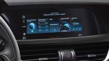 Alfa Romeo Stelvio SUV infotainment display