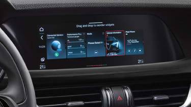 Alfa Romeo Stelvio SUV infotainment display