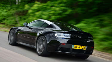 Aston Martin Vantage - rear 3/4 view