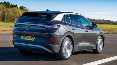 Volkswagen ID.4 SUV rear 3/4 tracking