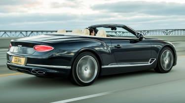 Bentley Continental GT V8 convertible rear tracking