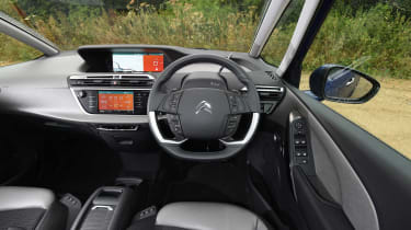 Not only is its exterior design unique, the cabin is very innovative too. Digital displays replace analogue gauges