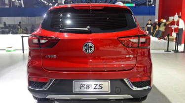 The rear styling is close to the larger MG GS