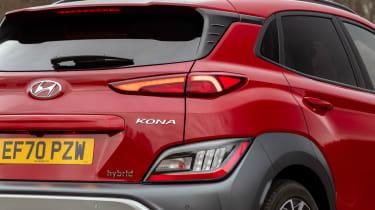 Hyundai Kona Hybrid SUV rear lights