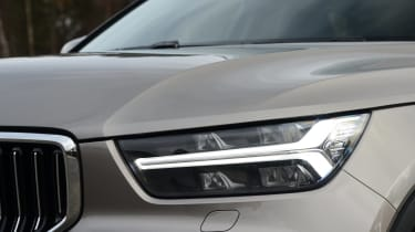 Volvo XC40 SUV headlights