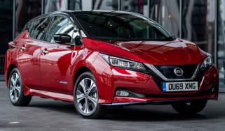 Red Nissan Leaf