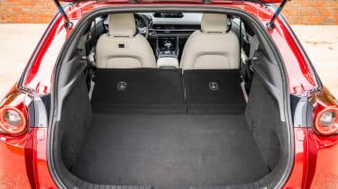Mazda MX-30 SUV boot seats folded down